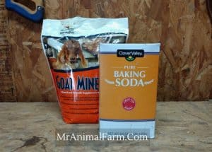 Goat minerals and baking soda