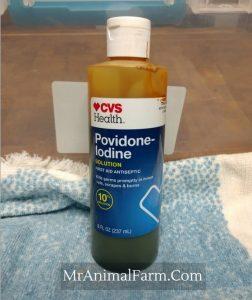 bottle of iodine