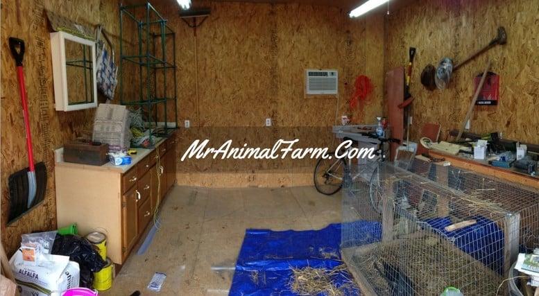 inside our cluttered barn workshop