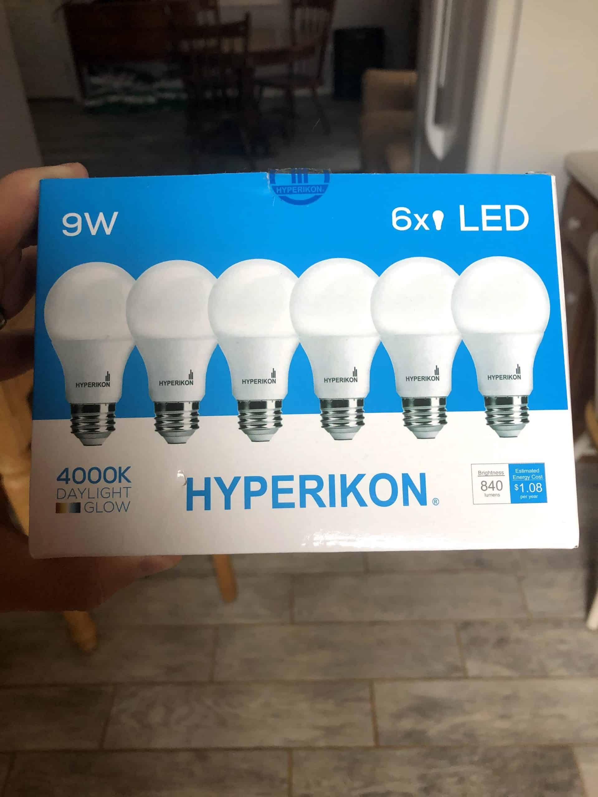 package of money saving energy efficient LED light bulbs