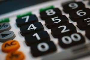 closeup of calculator