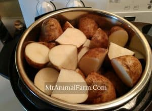 Sliced Potatoes in an instant pot