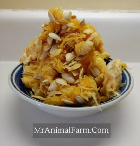 bowl of spaghetti squash seeds
