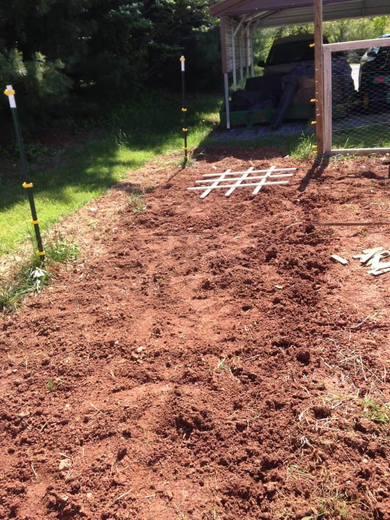 freshly tilled garden as outdoor exercises