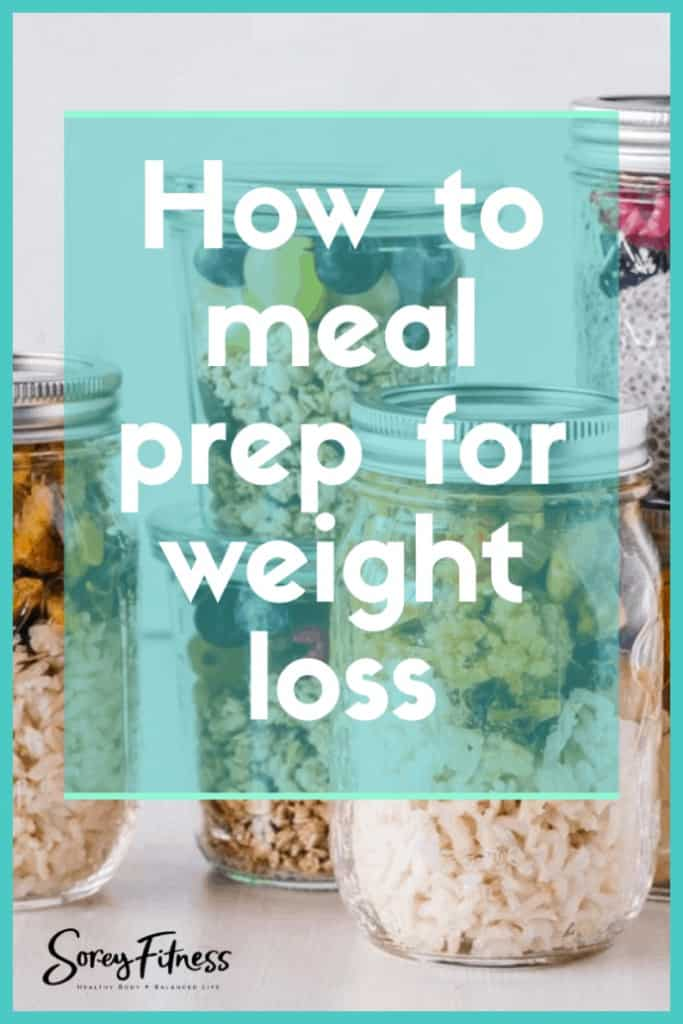 free meal plan pinterest image with various single serve meals in mason jars