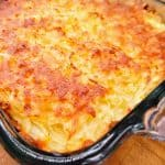 close up of cooked hash brown casserole
