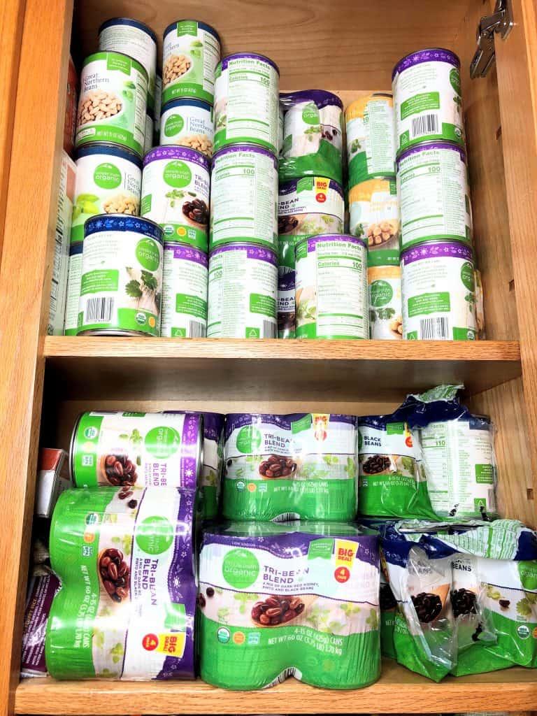 cabinet full of beans