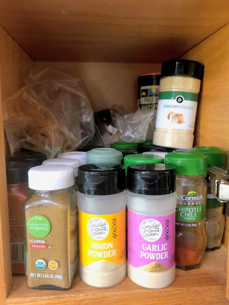 pantry with spices