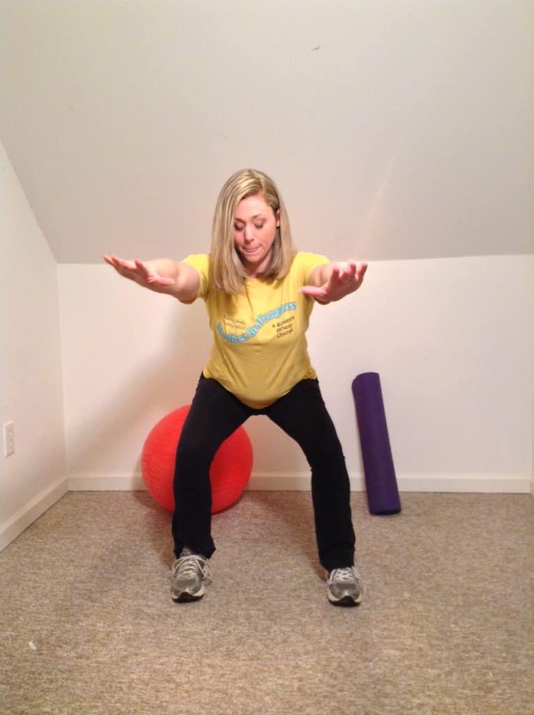 woman doing Jump Squats