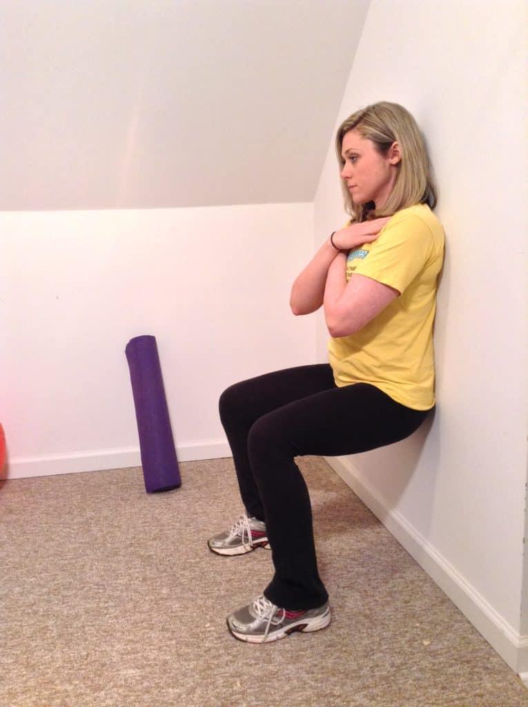 woman doing Wall Sit