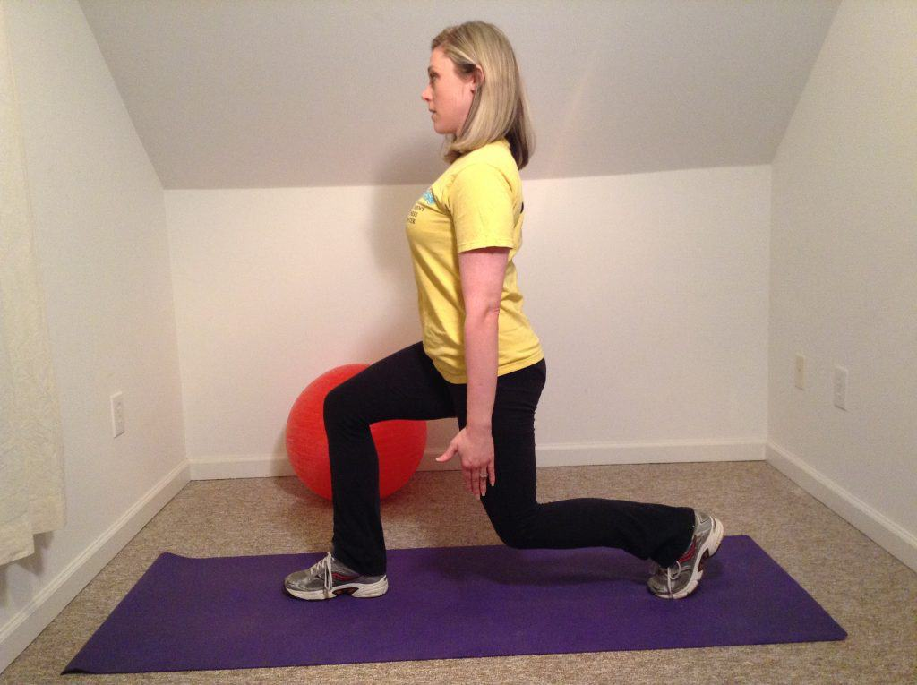 woman doing lunge