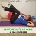 featured image abs workouts you can do at home with woman doing cross crunches