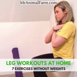 Leg Workouts for Free feature image of woman doing wall sits